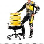 Ein heisser Stuhl kreiert von Töffrennfahrer Tom Lüthi